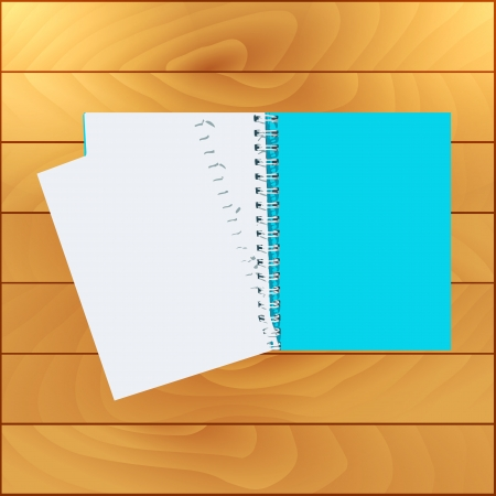 Book on wood background Vector