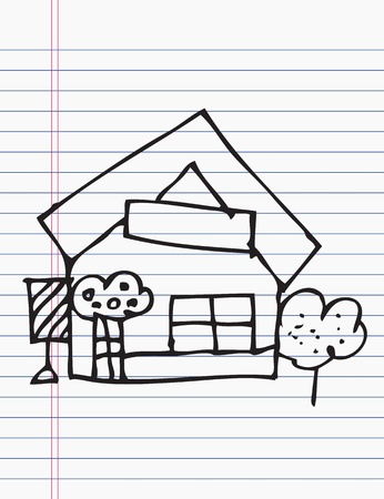 Drawing houses Vector