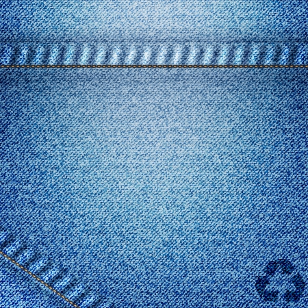 Recycle icon on jean background photo