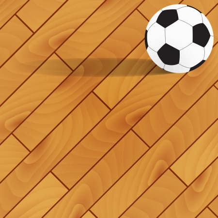 Football on wood background and texture Vector