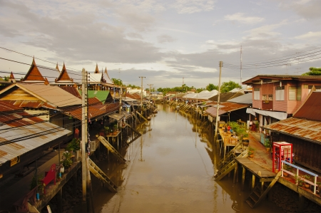 Floating market, Amphawa of Thailand  photo