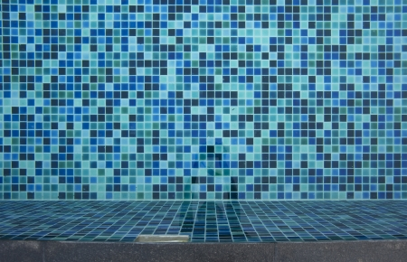 Refection of Blue water in Swimming pool  photo