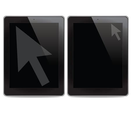 Arrow icon on tablet computer  photo