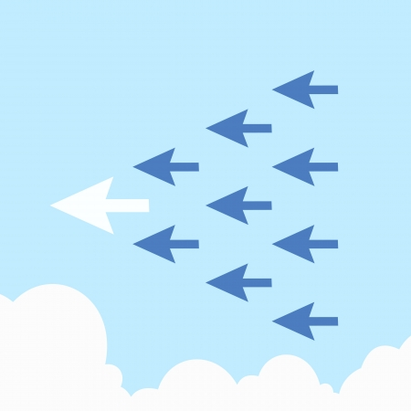 Arrow leadership concept Stock Vector - 17860268