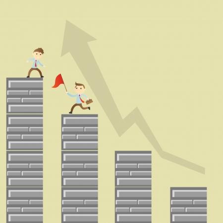 Success teamwork Stock Vector - 17860260
