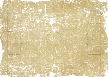 Sport football icon on old paper background and textured  photo