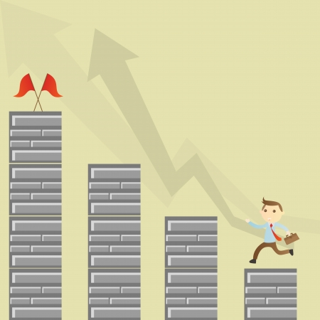 Success businessman Stock Vector - 18968513