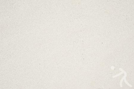 ballon volley: Ic?ne de volley-ball du Sport sur la texture de fond de sable et Banque d'images