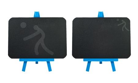 ballon volley: Ic�ne de volley-ball de sport sur fond de tableau noir en blanc Banque d'images