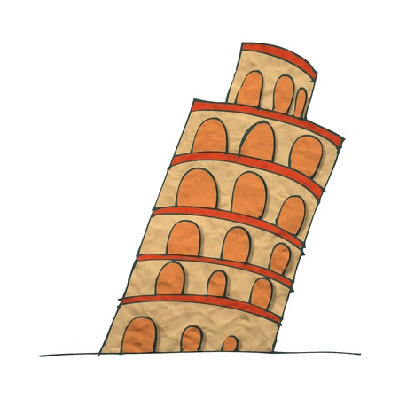 Plasticine Tower of Pisa photo