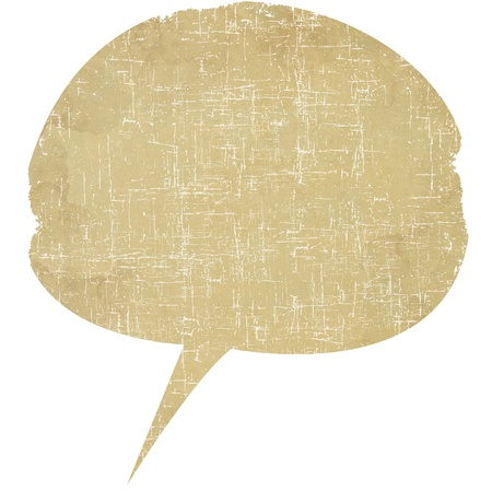 Speech bubble of paper 写真素材