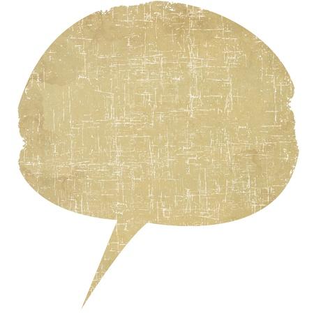 Speech bubble of paper Standard-Bild