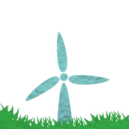 Plasticine turbine with green grass Stock Photo - 19027452