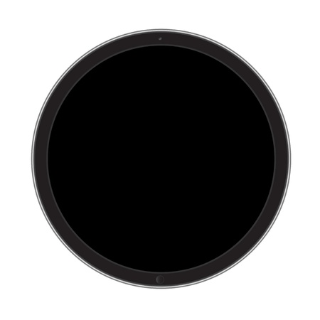 Tablet circle concept Vector