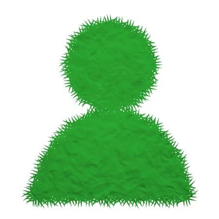 Plasticine of man icon Stock Photo - 19057900