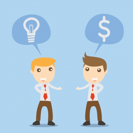 Businessman talk idea and money Vector