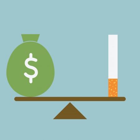 Smoking lose money