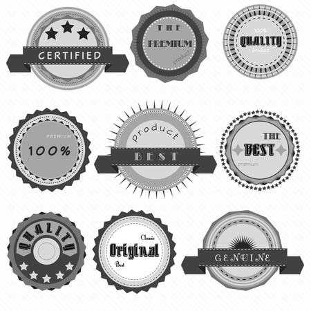 Collection of retro label Vector
