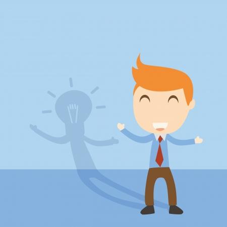 Businessman idea  Illustration