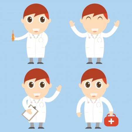orderly: Doctor cartoon Illustration