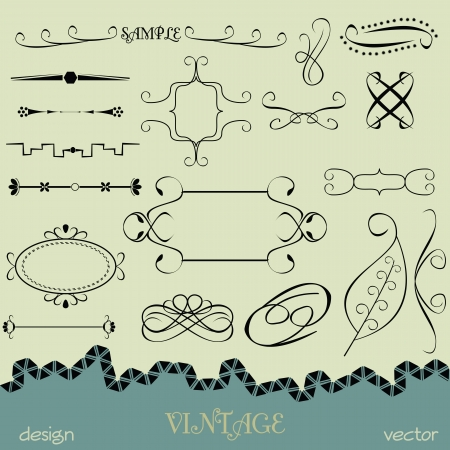 Vector set calligraphic design elements Vector