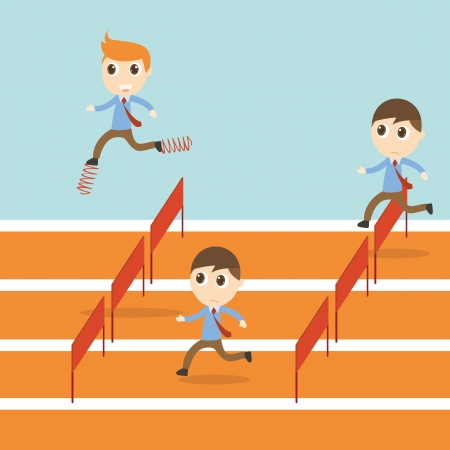 idea hurdle: Businessman competition