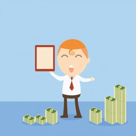 Businessman money Vector