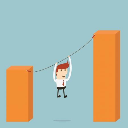 financial condition: Businessman goal Illustration
