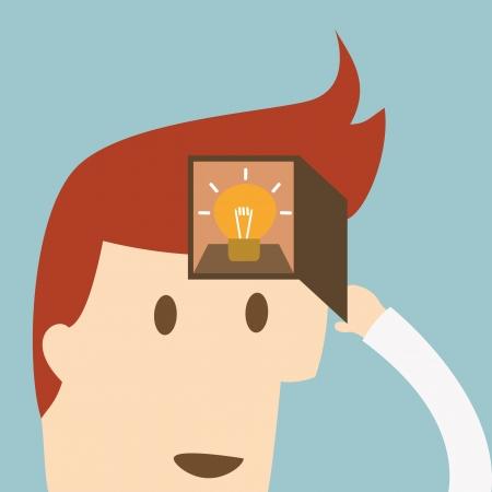 Businessman with ideas