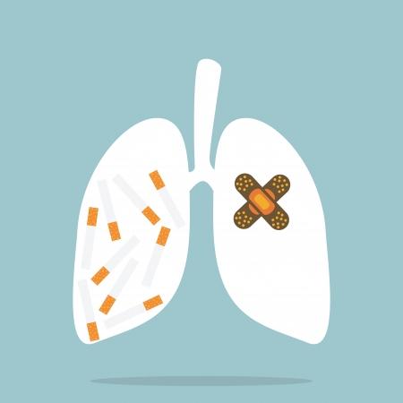 social issues: Smettere di fumare Vettoriali