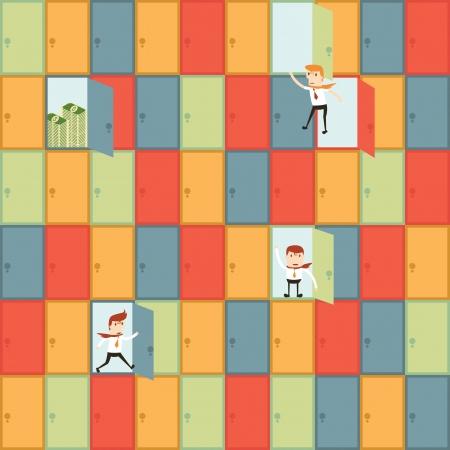 shortcuts: Shortcuts businessman Illustration