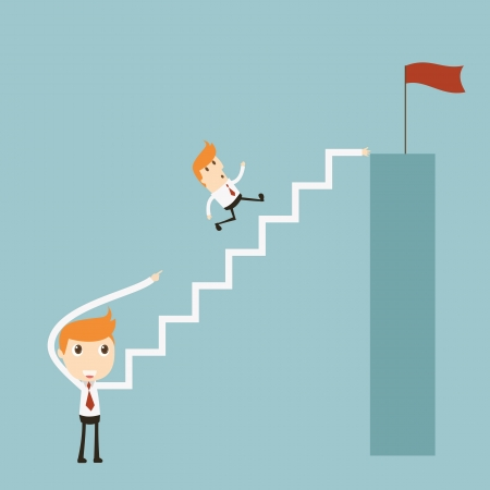 Stairs to success Illustration