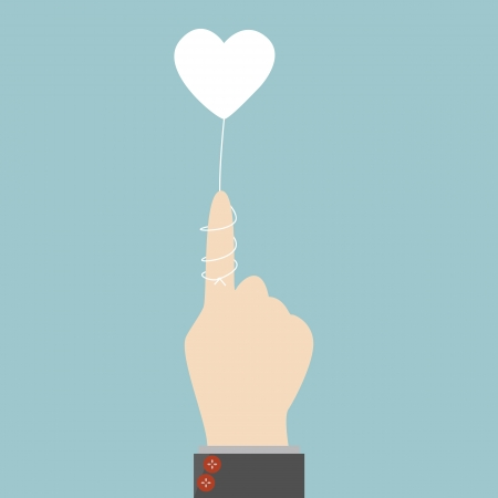 lovelorn: Rope heart with hand