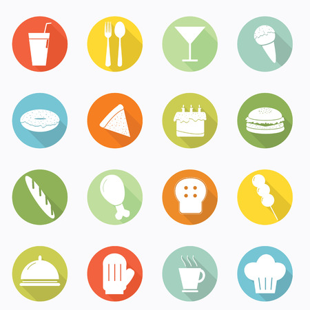 Food icon long shadow design Vector
