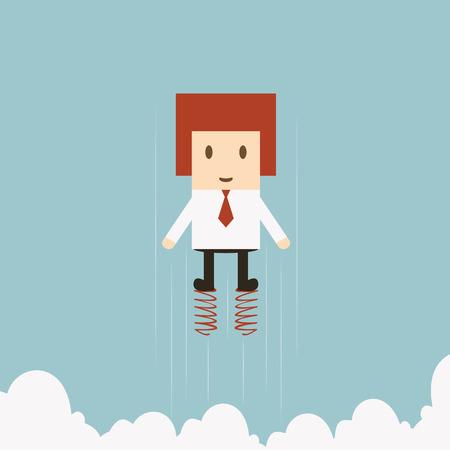 Businessman jumping Vector