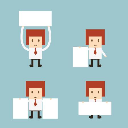 Set of business cartoon office worker Stock Vector - 27487356