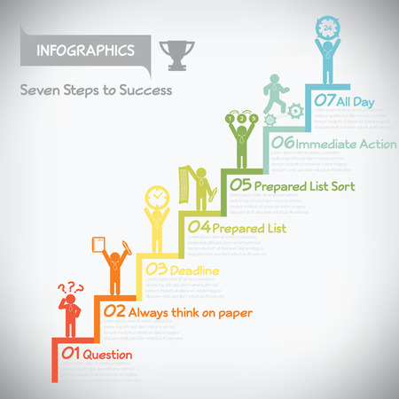 Step to success infographics, vector eps10 Vector