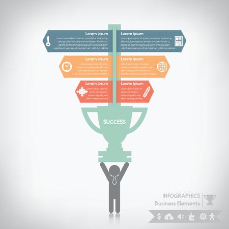 Business success infographics Vector