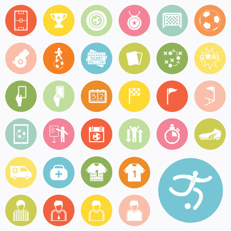Set of soccer icons design Vector