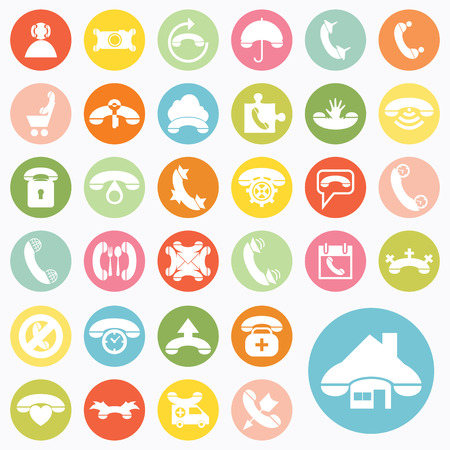 Set of phone icons design Vector