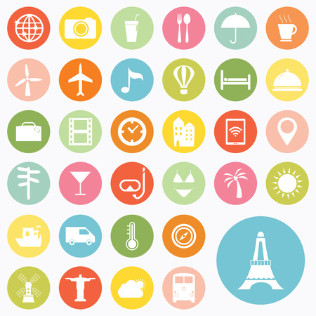 Set of travel icons design Vector