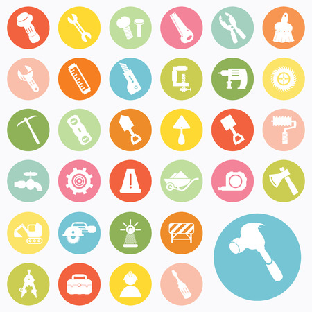 Set of construction icons design Vector