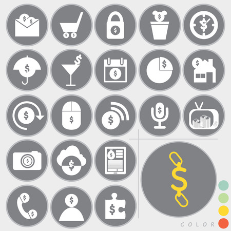 Set of money icons design Vector