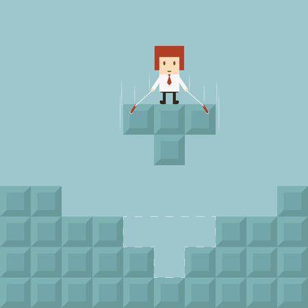 Businessman success concept  イラスト・ベクター素材