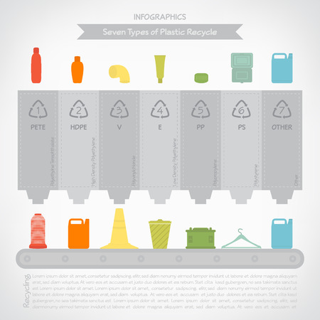 Plastic recycle infographics Vector