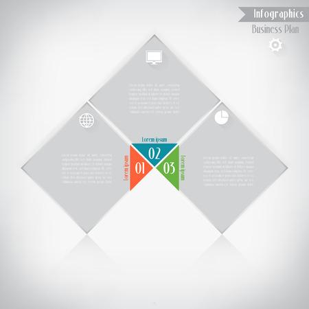 Business infographics, Vector illustration for  banner, web design, infographic, presentation. Vector