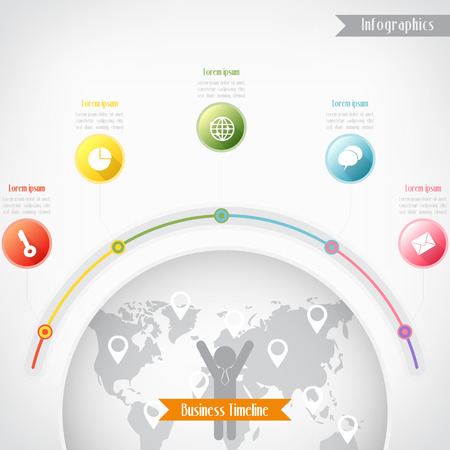 Business timeline infographics illustration Vector