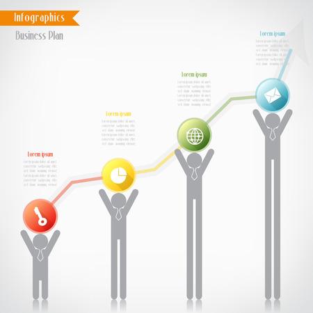 Business timeline infographics, Vector illustration for  banner, diagram, web design, infographic, presentation. Vector