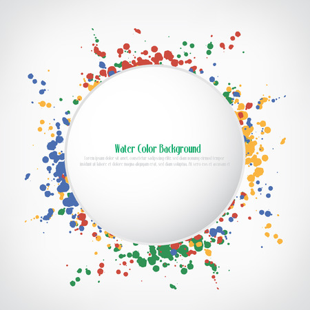Water color button background, vector illustration Vector