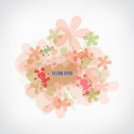 Water color flower background, vector illustration Vector